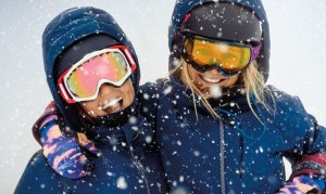 Snowboarding girls.
