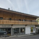 The exterior of the Rude Lodge in Morzine.