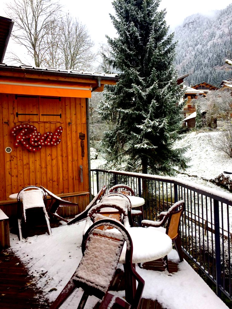 first snow in Morzine